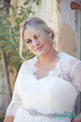 Wedding dresses with sleeves Elegance close up