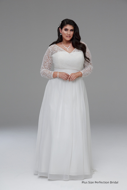 plus size wedding dresses with sleeves or jackets sleeve wedding gown gabbi plus size wedding dresses 6692